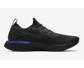 "Nike Epic React Flyknit Mujer ""Triple Black"" Negras/Negras-Corredor Azul AQ0067-004"