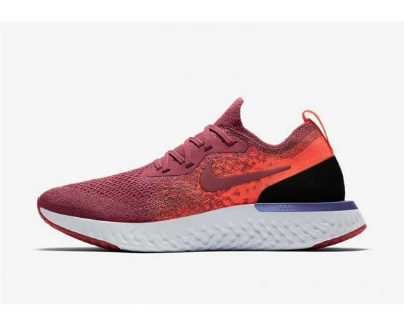 Nike Epic React Flyknit Mujer Rosa/Carmesí Hiper/Barely Rose/Rust Rosa AQ0070-601