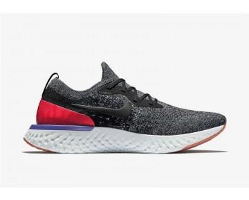 Nike Epic React Flyknit Hombre Negras/Blancas/Carmesí Hiper/Negras AQ0067-006