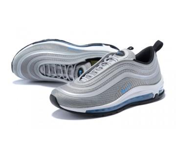 Nike Air Max 97 Ultra 17 Mujer Gris Lobo/Marina Azul-Negras 917704-001