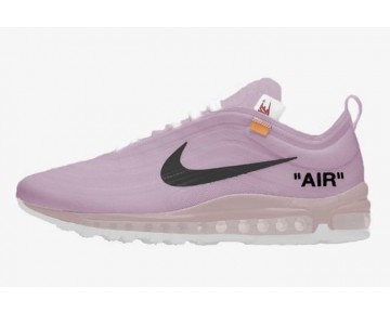 Hombre Off-White x Nike Air Max 97 Zapatillas Elemental Rose/Barely Rose-Blancas-Negras AJ4585-600