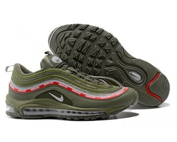 Nike Hombre/Mujer Air Max 97 Undefeated AJ1986-300 Milicia Verde/Naranja Blaze/Plata Metálica