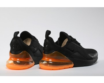 Air Max 270 Flyknit Zapatillas - Hombre/Mujer Negras/Naranja