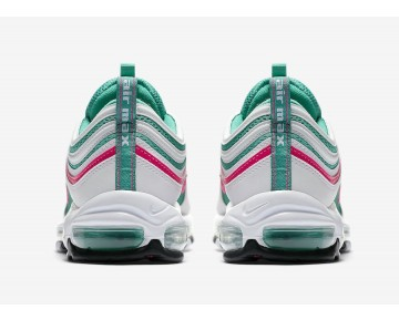 """Nike Hombre Air Max 97 """"South Beach"""" Blancas/Explosión Rosada-Cinética Verde-Negras 921826-102"""