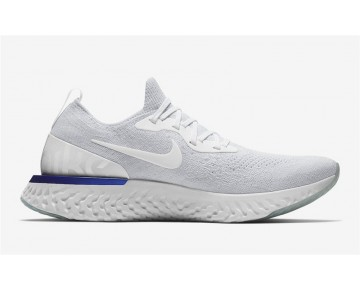 "Nike Epic React Flyknit Hombre/Mujer ""White Fusion"" Blancas Fusion AQ0067-100"