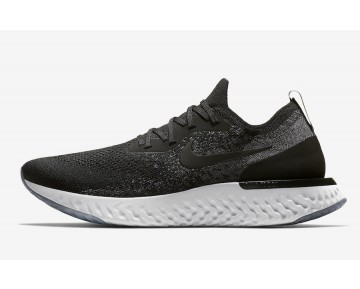 Nike Epic React Flyknit Hombre/Mujer Negras/Negras-Gris Oscuro-Platino Puro AQ0067-001