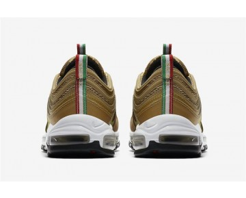 "AJ8056-700 Hombre Nike Air Max 97 ""Italy Flag"" Oro Metálico/Blancas-Rojo Universidad"
