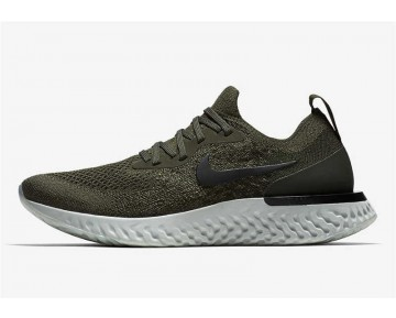 Nike Epic React Flyknit Hombre Olive/Negras/Camper Verde AQ0070-300