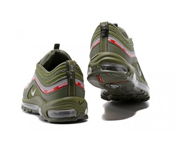 Nike Hombre/Mujer Air Max 97 Undefeated AJ1986-300 Milicia Verde/Naranja Blaze/Plata Metálica